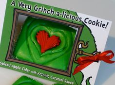 Discount Code HOLIDAY2017 for 15%OFF Online Delivered Holiday Christmas Cookies -Send Dr Seuss inspired Grinch Christmas Cookies by Special Delivery for Story Time - Spiced Cider & Cinnamon, Quantity: 2 / Item #1002029