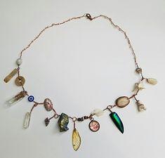 "katarinanavane:""A 19 specimen cabinet of curiosities charm necklace"" Cute Jewelry, Jewelry Box, Jewelry Accessories, Jewlery, Hippie Jewelry, Looks Vintage, Piercings, Beaded Necklace, Necklaces"