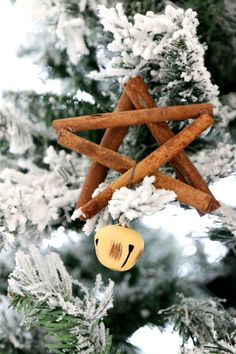How to make a Cinnamon Stick Star Ornament : Christmas DIY that smells amazing with a little jingle, Easy Star Tutorial for Christmas, make your tree look, smell, and sound beautiful