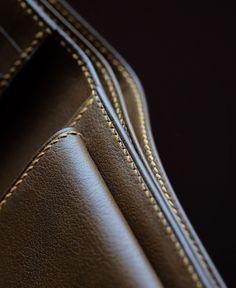 Bespoke hand sewn men's wallet