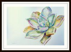 Succulent 1 ARTIST LORNA PAULS A3 Watercolour on 200g ProArt paper Done March 2017 Watercolour Art, A3, Succulents, Wildlife, March, Paper, Artist, Painting, Artists