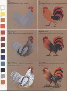 Painting Techniques that Add Character to Your Décor – Home Decor Network Rooster Painting, Rooster Art, Chicken Painting, Chicken Art, One Stroke Painting, Painting & Drawing, Painting Lessons, Painting Techniques, Painting Tips
