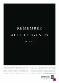 Royal British Legion: Remember Alex Ferguson