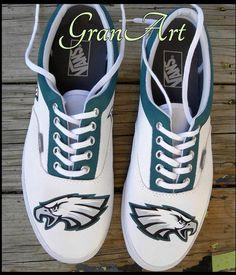 Philadelphia Eagles Custom Shoes, Custom Shoes, Vans Painted Shoes by GranArt