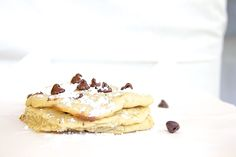 Skinny Cookie Dough Pancakes by Skinny Girl Standard, a low calorie food blog