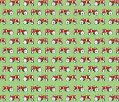 farm_tractor_print fabric by gomingo on Spoonflower - custom fabric