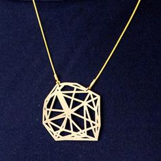 LOTOCOHO Sol Structure Necklace VI Gold, £78,