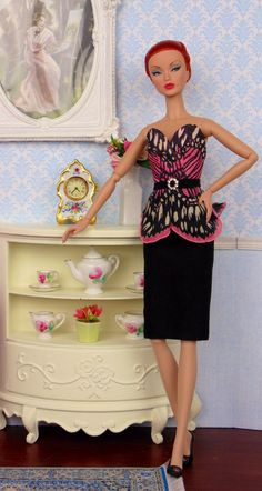 Madame Butterfly for Silkstone Barbie Poppy Parker & by HankieChic