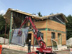 Installing windows into the panel house. Netherlands, Construction, Windows, Fun, House, Travel, The Nederlands, Building, The Netherlands
