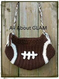 Crochet Football Purse by yodera on Etsy, $23.00