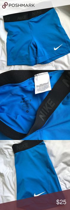 Blue Nike Compression Shorts Blue Nike Dry fit compression shorts Nike Shorts