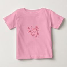 #vintage - #Designers little Tshirt with Red ornament Henna