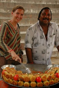 Indian Street Food - Varanasi, India - Explore the World with Travel Nerd Nici, one Country at a Time. http://TravelNerdNici.com