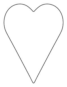 Long heart pattern Use the printable outline for crafts creating Felt Patterns, Applique Patterns, Applique Quilts, Valentines Art, Be My Valentine, Templates Printable Free, Printable Hearts, Printables, Heart Shapes Template