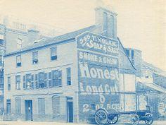 Henry M. Wheeler. Tremere House, Boston. Cyanotype print. Ca. 1890s.