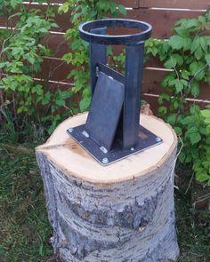 Kindling splitter. #metalwork #welding #fabrication #metaldesign #metal #handmade #woodsplitters #f - the_fabratory