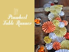 unique table runners | this pinwheel table runner is a perfect alternative for floral ...