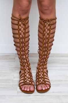 Hera Gladiator Sandals - Chestnut