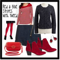 A fashion look from November 2014 featuring striped tee, j crew jacket and denim wrap skirt. Browse and shop related looks.