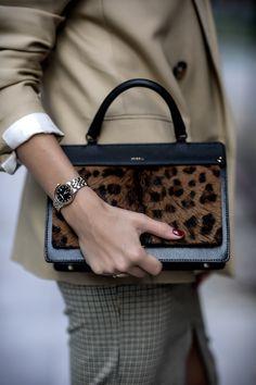 FURLA Leopard print bag, Raymond Weil women watches, Massimo Dutti beige jacket, H&M skirt. Furla, Raymond Weil, Soft Autumn, Watches, Fashion Stylist, Luxury Fashion, Fashion Trends, Hermes Kelly, Miraculous