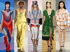 Tie-Dye Prints from Biggest Trends at New York Fashion Week Spring 2016  The '70s looks that were abundant in fall left a remnant in the spring-summer presentations: Namely tie-dye print, which was incorporated seamlessly in multiple designers' collections.