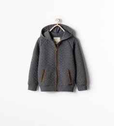 Billede 1 af VATTERET SWEATSHIRT fra Zara