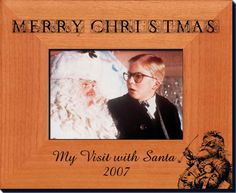 Personalized Christmas Picture Frames - Solid Wood Laser Engraved Picture Frames - Starting at $23.36