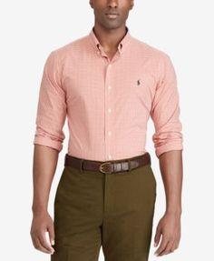 POLO RALPH LAUREN Polo Ralph Lauren Men'S Big &Amp; Tall Gingham Classic-Fit Poplin Shirt. #poloralphlauren #cloth #down shirts
