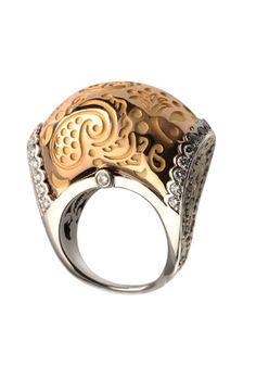 Carrera Y Carrera Plum Cake Ring With Diamonds
