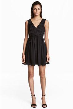 Vestido con escote de pico - Negro - MUJER | H&M ES