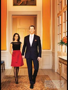 Prince Joachim and Princess Marie of Denmark in Hola Magazine