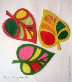 Apfel Fensterbilder mit Seidenpapier basteln ...