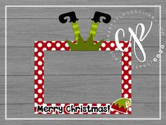 Christmas photo booth frame | Elf photo booth prop | Holiday photo prop | Santa selfie frame | Printed  >>> LAST DAY TO ORDER BEFORE CHRISTMAS IS THURSDAY DECEMBER 14TH BY 5:00PM PACIFIC TIME <<<   ***Please read the important info section and check our shipping coupons before