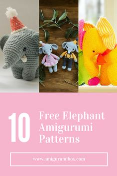 Here are some free elephant amigurumi patterns for you to enjoy! I included a mix of crochet patterns and knitting patterns for this roundup. Gustav the Balancing Elephant by Amour Fou. This elephant's trunk is one of the cutest I've ever seen. The ball pattern is also included in this elephant pattern. Easy Elephants by...Continue Reading