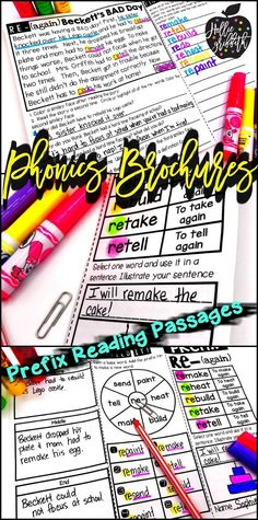 Are you a first or second grade teacher looking for activities to teach prefixes? These prefix reading passages are interactive and fun! Not only do they teach prefixes and root words but they also reinforce comprehension. Forget the worksheets... Grab these phonics brochures! #HollieGriffithTeaching #KidsActivities #Phonics