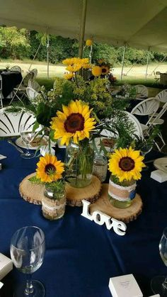Ideas para decorar frascos con girasoles