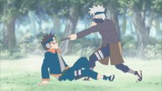 Obito and Kakashi