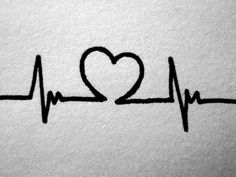 Heart/ECG tattoo- If I get brave enough to get another tattoo, I want this!
