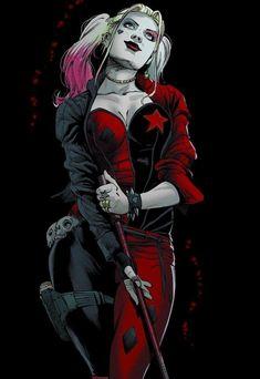 How many of you like Harley Quinn? Harley Quinn Drawing, Harley Quinn Comic, Harley Quinn Cosplay, Catwoman, Batgirl, Arte Dc Comics, Dc Comics Art, Comics Girls, Dc Comics Characters
