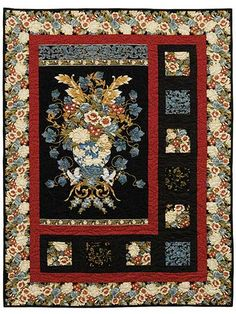 Marbella Sidelights Quilt Kit.                      I have a panel and I have pondered what to do with it to make it a quilt.  I see the answer and inspiration in this quilt.