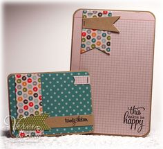 Inspiration: Making your own project life cards from your stash (paper pieces and stamping)