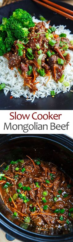Slow Cooker Mongolian Beef. Double sauce and add rice vinegar