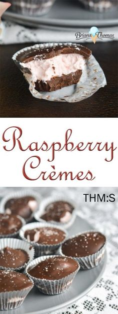These delicious Raspberry Cremes are THM:S, low carb, no sugar added, and gluten/egg/nut free!