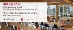 Baratz patrocina la XXII Asamblea Anual de la Red de Bibliotecas Universitarias, que tendrá lugar los próximos 6 y 7 de noviembre, organizada por la Universidad Complutense de Madrid y REBIUN.