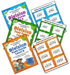 Division Task Cards and QR Code Combo (CCSS Aligned) - Includes 60 task cards on three different levels and also includes the QR code answers as a bonus! $