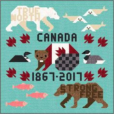 With only two weeks left in the year. I am scrambling to finish up the two Canada 150 quilts designed for the upcoming Anni. 16 Patch Quilt, Quilt Blocks, Quilting Tips, Quilting Designs, Paper Piecing, Canadian Quilts, Quilts Canada, Wildlife Quilts, The Quilt Show