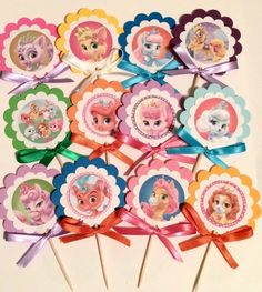 Disney Palace Pets cupcake toppers OR party tags,birthday decor,party favors by AivanCreations on Etsy https://www.etsy.com/listing/185940305/disney-palace-pets-cupcake-toppers-or