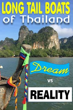 A Thailand Long Tail boat is often the photo that stirs bucket list dreams of Krabi beach. The Thai boat, ruea hang yao, has long been a mode of water transportation in Southeast Asia. Find out what riding a Krabi island longboat is really like. #Thailand #Krabi #longboat #SoutheastAsia #travel #boat