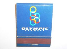 VINTAGE GREEK Olympic Airways Airlines MATCHES MATCHBOOK & Matches VERY RARE!!!! Vintage Advertising Posters, Vintage Advertisements, Olympic Airlines, Aircraft Pictures, Lost Art, Military History, Airplane, Olympics, Planes