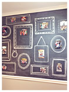 How lovely to do this for intake interviews, come September. Families arrive, stick their picture up. I love this!